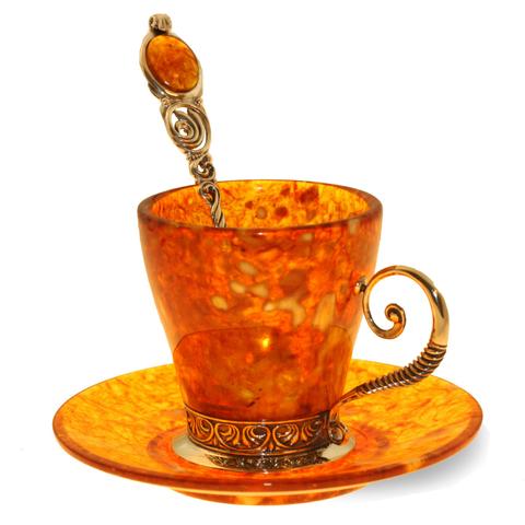 Кофейный набор «Антик» из янтаря