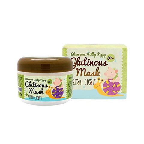 Ночная крем-маска для лица с 80% муцином слизи улитки Milky Piggy Glutinous 80% Mask Snail Cream