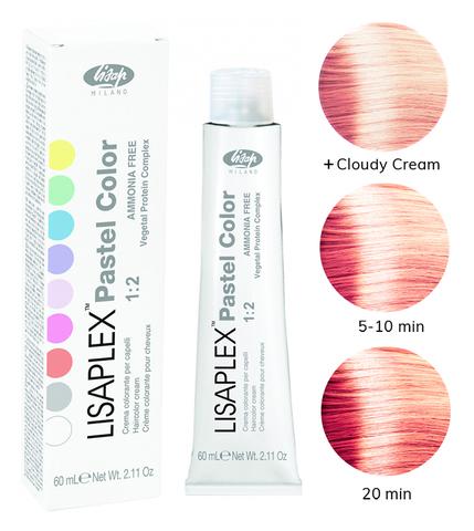 Оттенок Orange Pink Розовый апельсин Крем-краситель для волос Lisaplex Pastel Color 60мл