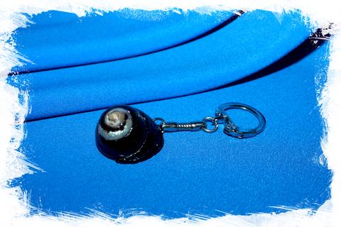 Брелок для ключей с ракушкой Турбо черный