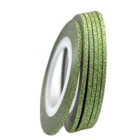 Фольга-лента на клейкой основе блестящая (зелёная)
