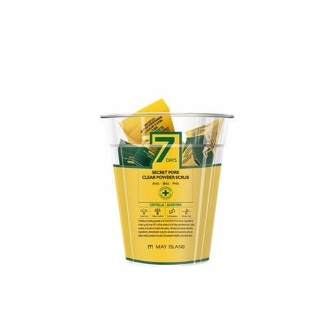 May Island 7Days Secret Pore Clear Powder Scrub скраб для глубокого очищения пор с экстрактом алоэ, центеллой и AHA/BHA/PHA кислотами