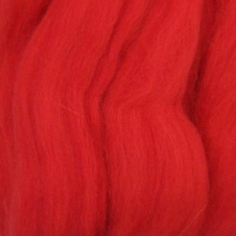 Шерсть для валяния полутонкая 88 Красный мак (Пехорка)
