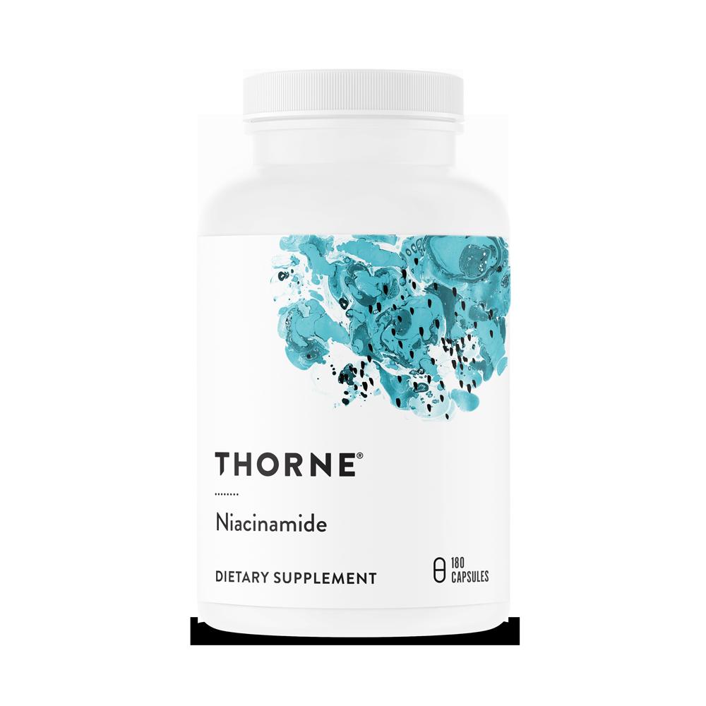 Витамин РР (В3) Ниацинамид, Niacinamide, Thorne Research, (180 капсул)