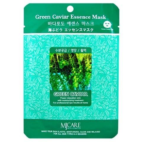 MIJIN Маска тканевая морской виноград Green Caviar Essence Mask