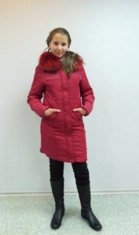 Пальто для девочки (чёрное) Winterra