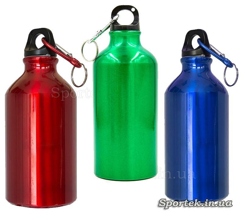 Велосипедная (туристическая) алюминиевая фляга для воды и напитков (0.5 л)
