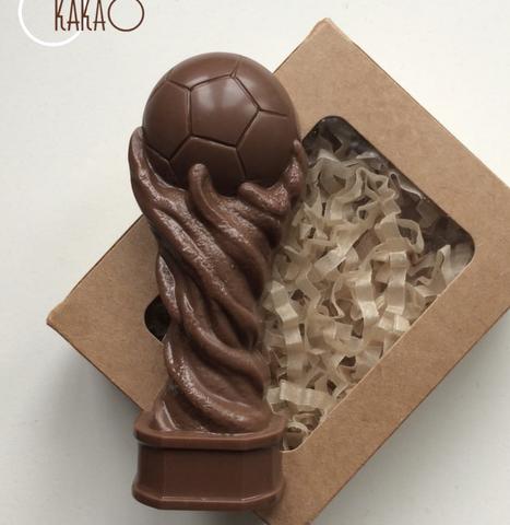 Пластиковая форма для шоколада дет. КУБОК ФУТБОЛЬНЫЙ (110х45мм)