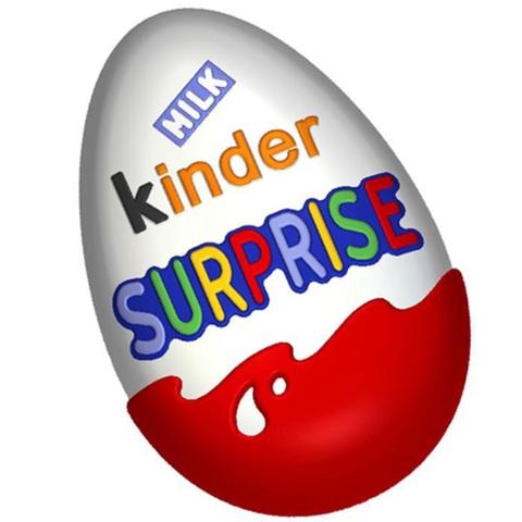 Пластиковая форма для шоколада пас. ЯЙЦО Kinder SURPRISE (85х55мм)