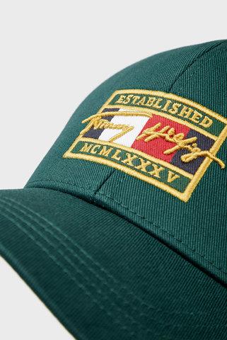 Мужская зеленая кепка TH PATCH SIGNATURE CAP Tommy Hilfiger