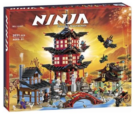 Конструктор Ниндзяго 10427 Храм Аэроджитцу 2031 дет.