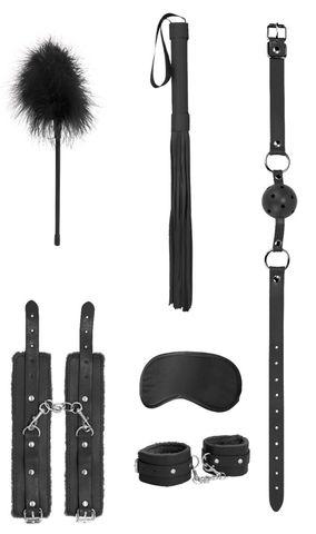 Черный игровой набор Beginners Bondage Kit
