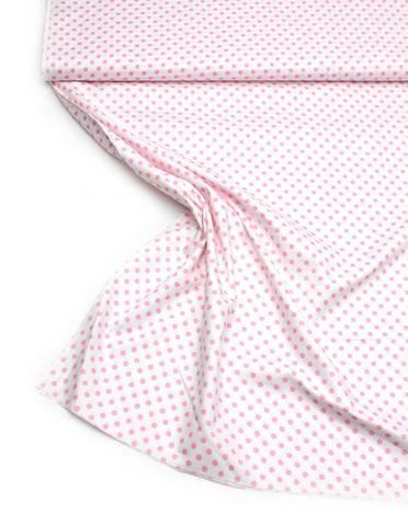 Розовый горошек на белом фоне