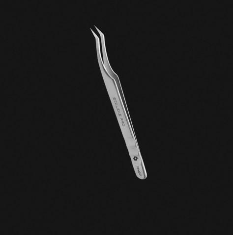 Staleks Пинцет профессиональный для ресниц EXPERT 41 TYPE 7 (L-образный, 30')