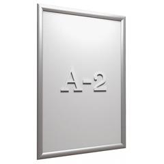 Рамка А2 Attache, алюм.клик-профиль 25 мм, настенная