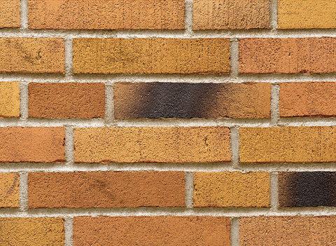 Stroeher - 391 ockererz, Handstrich, узкая, состаренная поверхность, ручная формовка, 240x52x14 - Клинкерная плитка для фасада и внутренней отделки