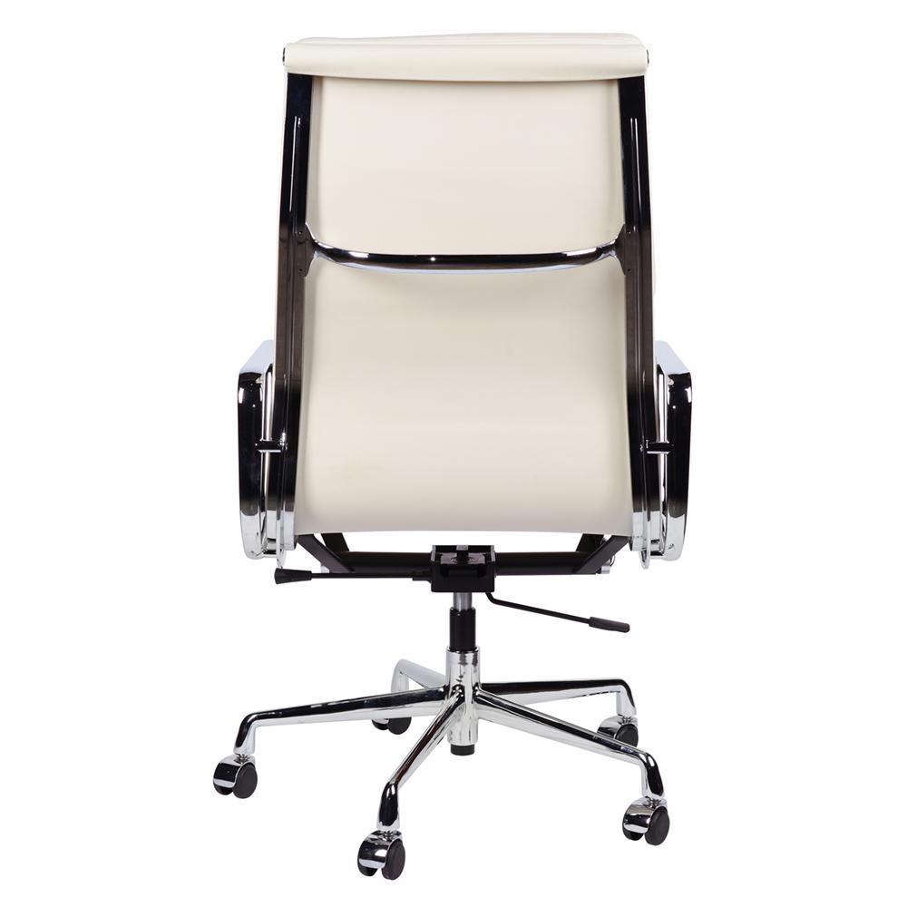 Кресло Eames Style HB Soft Pad Executive Chair EA 219 кремовая кожа - вид 2