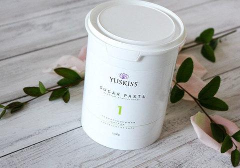 Сахарная паста на фруктозе для шугаринга YUSKISS 1,5кг (Корректор мягкий)