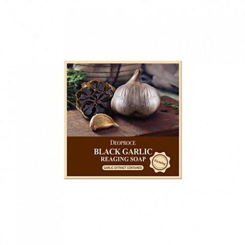 Мыло туалетное твердое с экстрактом черного чеснока DEOPROCE SOAP BLACK GARIC 100гр