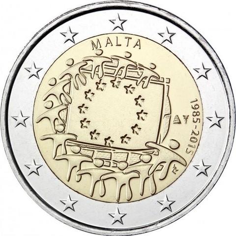 2 евро 2015 Мальта - 30 лет флагу Евро Союза