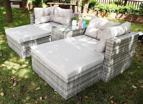 Комплект для отдыха: стол+2 кресла+2 оттомана, LUC-WK10