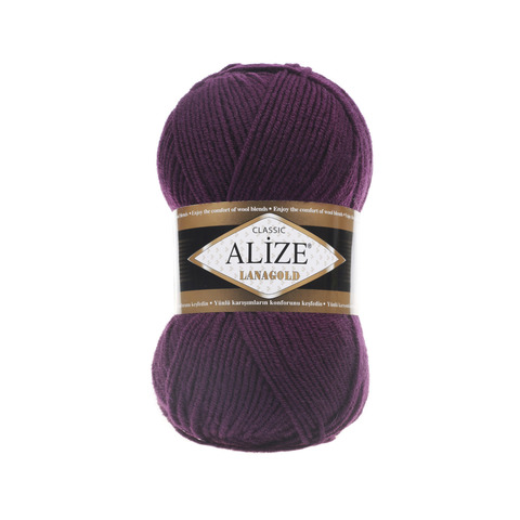 Пряжа Alize Lanagold 111 фиолетовый