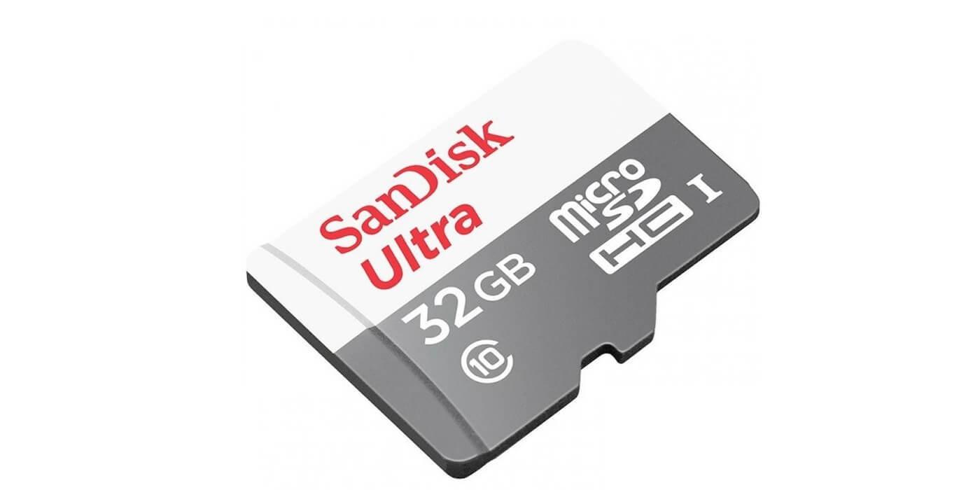 Карта памяти SanDisk microSDHC 32GB Class 10 Ultra (SD адаптер) UHS-I 100MB/s