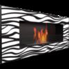 Биокамин Kratki Delta 2 Zebra со стеклом