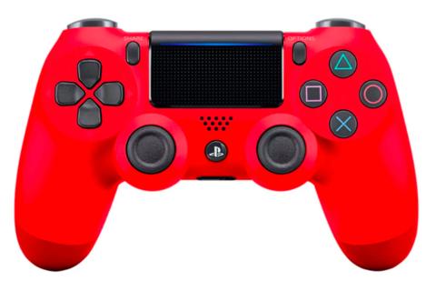 Беспроводной контроллер DualShock 4 для PS4 (красная магма, 2ое поколение, CUH-ZCT2E: SCEE)