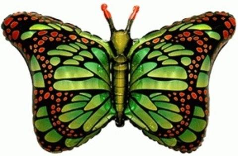 Фольгированный шар Бабочка-монарх зеленая
