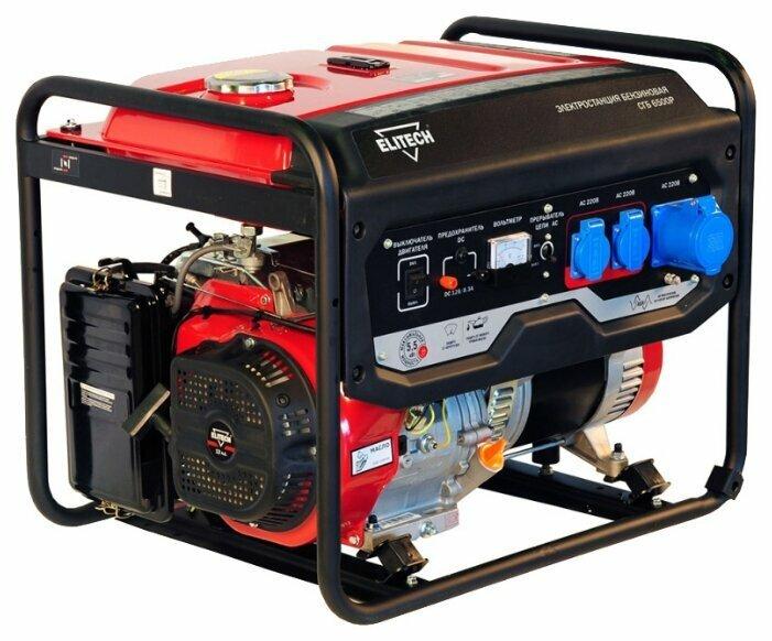 Генератор бензиновый Elitech СГБ 6500Р