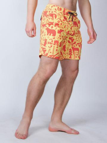 Винтажные пляжные шорты «Жаркое лето»
