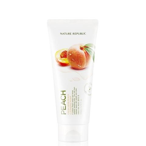 Nature Republic Fresh Herb Cleansing Foam Peach пенка для умывания с персиком