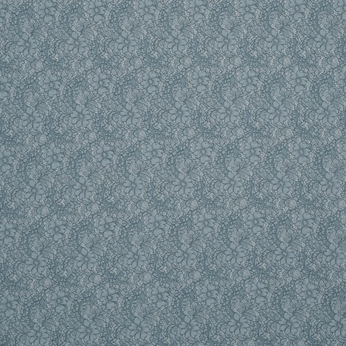 Хлопково-вискозное кордовое кружево пыльно-голубого цвета