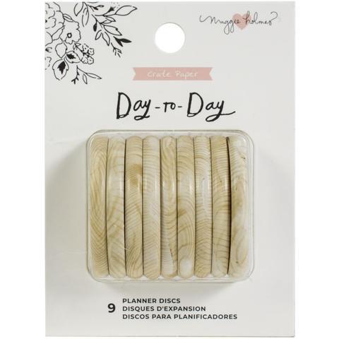 Диски - (крепежный механизм для ежедневников) Maggie Holmes Day-To-Day Planner Discs -  Wood - 4.3см/9шт