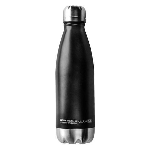 Термобутылка Asobu Central park (0,51 литра), черная/стальная