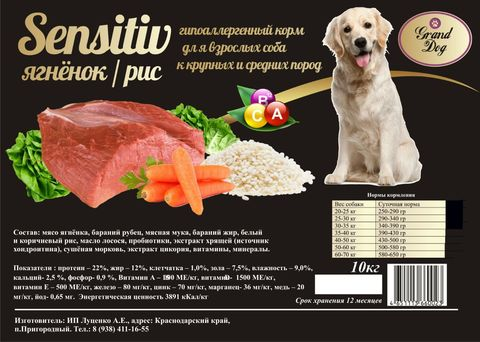 Grand Dog Sensitiv- ягненок и рис