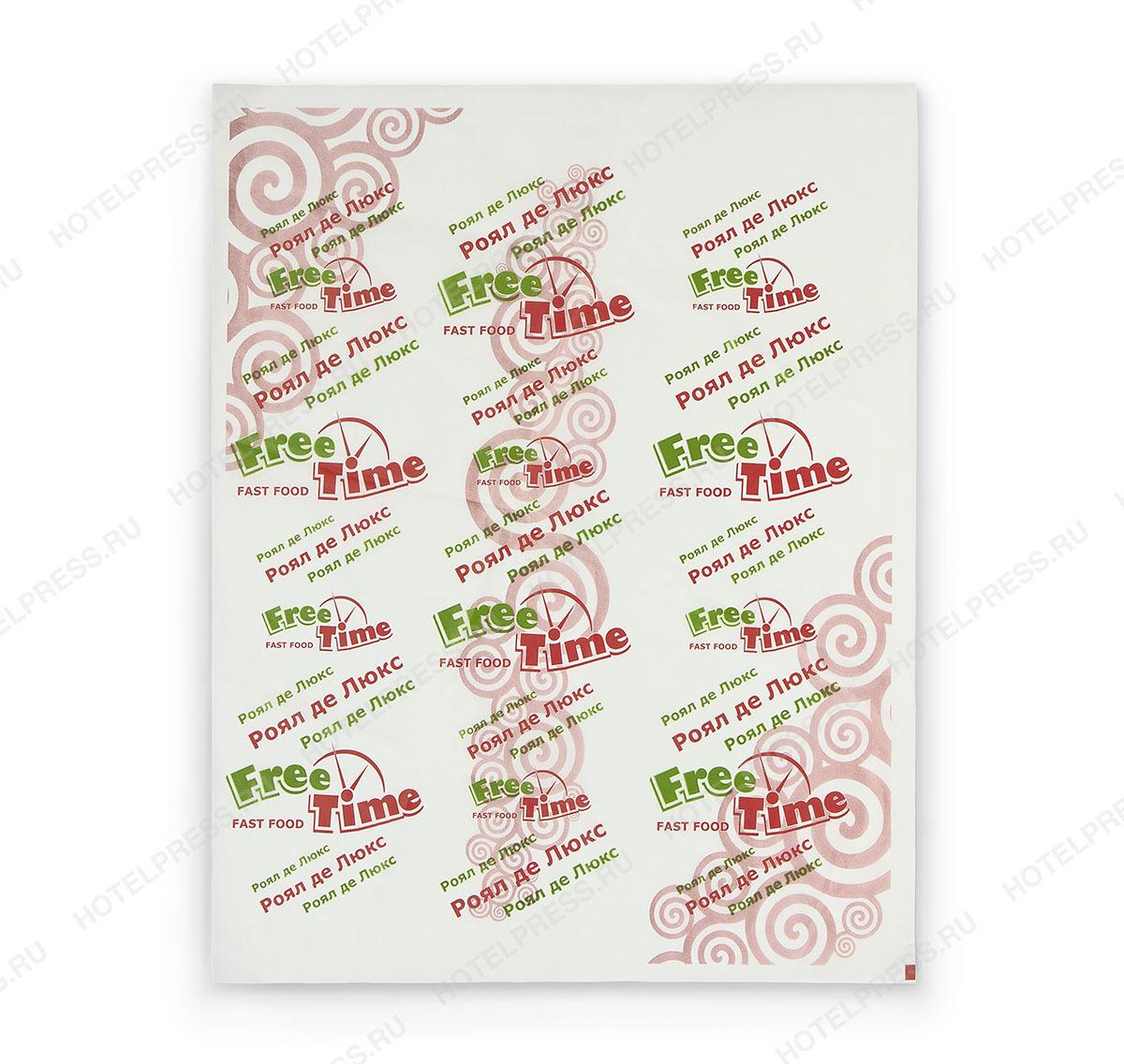 Бумага для упаковки ресторана быстрого питания FREE TIME