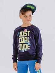 Свитшот (пуловер) для мальчика с длинными рукавами и принтом-надписью купить