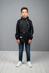 Ветровка-анорак для мальчика черный