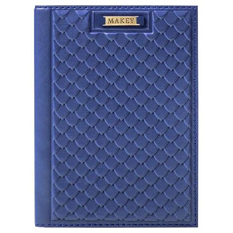 Обложка на паспорт «Fleur». Цвет синий