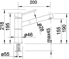 Смеситель Blanco ALTA-S Compact