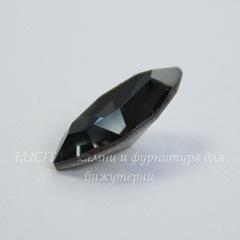 4228 Ювелирные стразы Сваровски Navette Crystal Silver Night (15х7 мм)