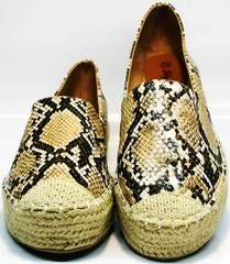 Обувь на лето женская Lily shoes Q38snake.