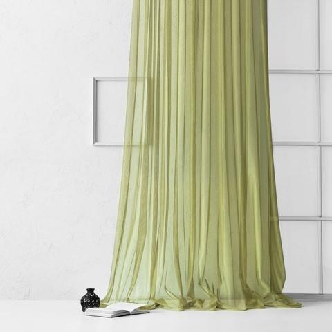 Тюль из сетки соты Гретель зелёный
