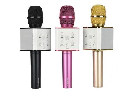 Микрофон для караоке TUXUN Q7 (pink) розовый