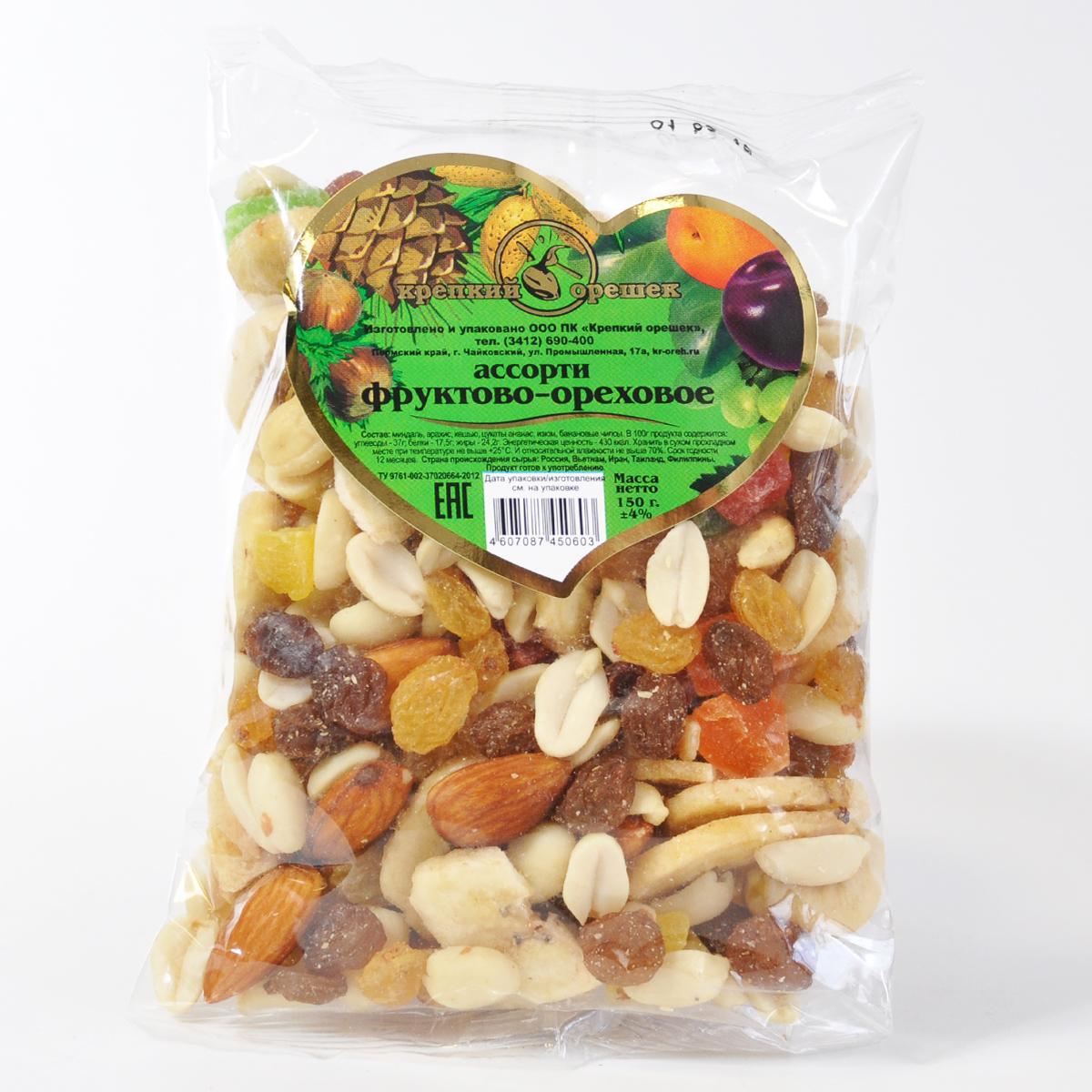 Ассорти фруктово-ореховое CEZONI 150 гр