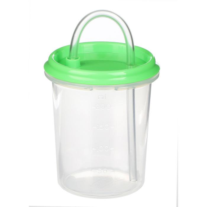 "Бутылочка-поильник с трубочкой Sistema""Hydrate"" 250 мл, цвет Зеленый"