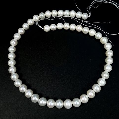 Жемчуг белый АА натуральный шар 8,5-9 мм