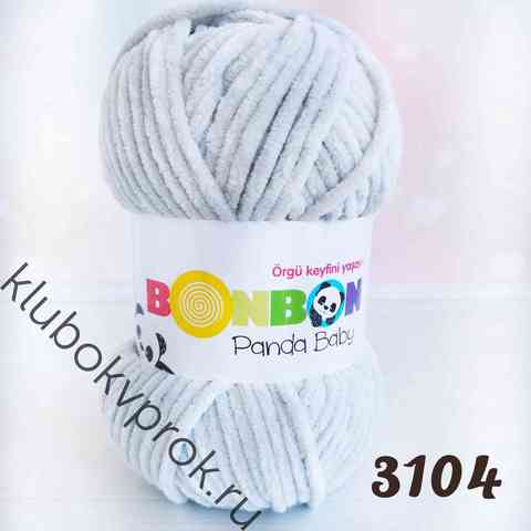 BONBON PANDA BABY 3104, Светлый серый